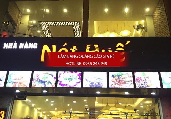 Mẫu bảng hiệu quán ăn nhà hàng đẹp